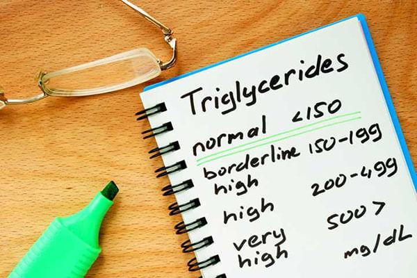 محدوده طبیعی تری گلیسرید در آزمایش خون